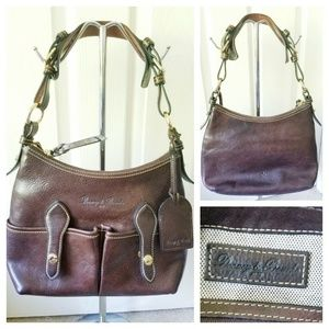 Dooney & Bourke  Brown Leather Shoulder w/Dustbag